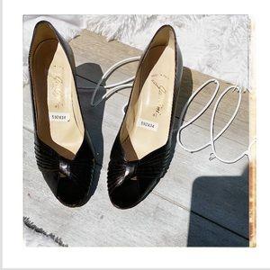 Garolini Italian leather peep toe heels Sz 8.5